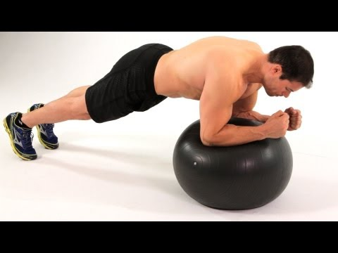 How to Do Front Plank on Exercise Ball | Ab Workout