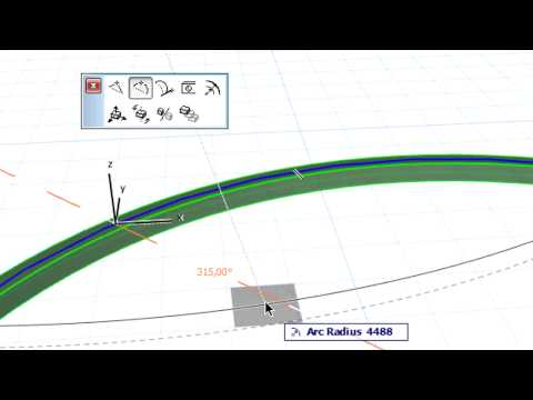 Modifying curved beams in ARCHICAD