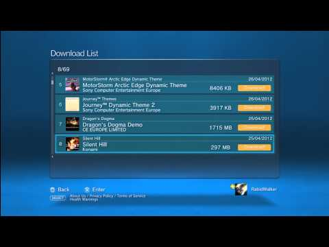 How to download content from your Download list on your PlayStation 3