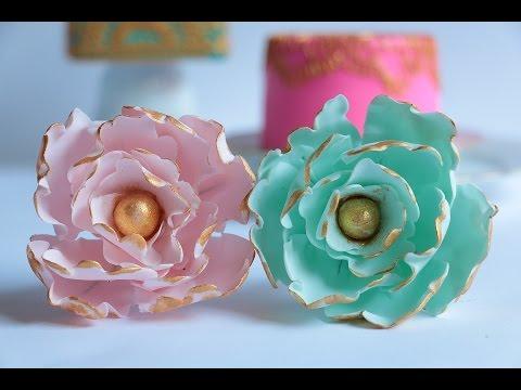 Gumpaste Peony Flower Tutorial