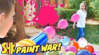 Paint War April Fools Day Battle! SuperHeroKids