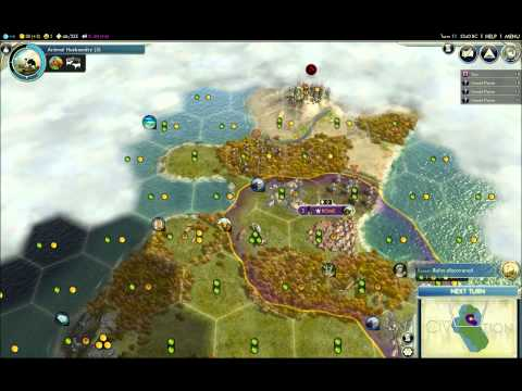 Civ 5 Walkthrough - Rome Part 1 (Ancient Era) Science Victory