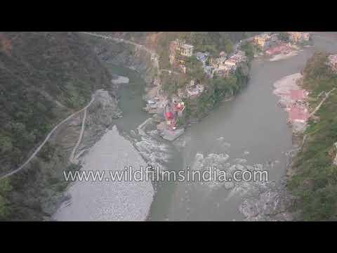 Rudraprayag confluence : Mandakini joins Alaknanda Ganga, Uttarakhand