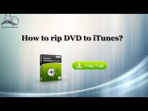 how to rip DVD to iTunes/play protected DVD on iTunes(Mac and Win version)