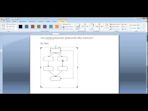Cara membuat flowchart di Microsoft Word 2007