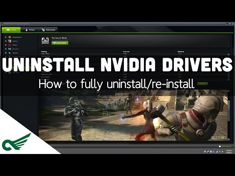 Tutorial - How to Properly Install/Uninstall/Reinstall Nvidia Drivers