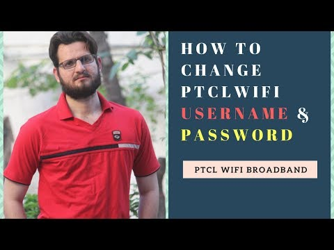 How to change PTCL wifi username & Password
