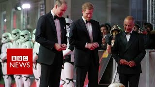 Star power: Princes turn out for Star Wars premiere - BBC News