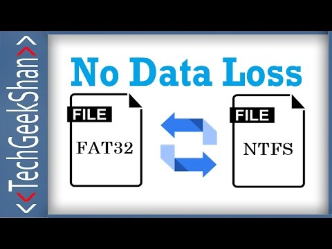 Convert FAT32 to NTFS   Without Data Loss