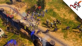 Age of Empires 3 - 4vs4 NOOBS Crushing the EXPERTS | Multiplayer Gameplay