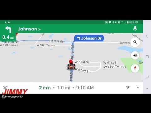 Mario Kart On Google Maps! EASTER EGG