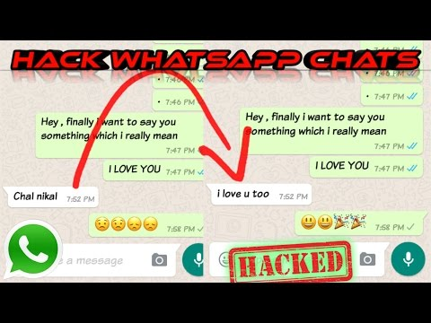 HACK WHATSAPP CHATS HISTORY & EDIT/MODIFY IT (2018) || हिंदी-||