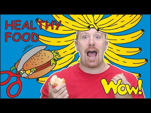 Healthy Food for Kids from Steve and Maggie | Speaking with NEW Stories for Children Wow English TV