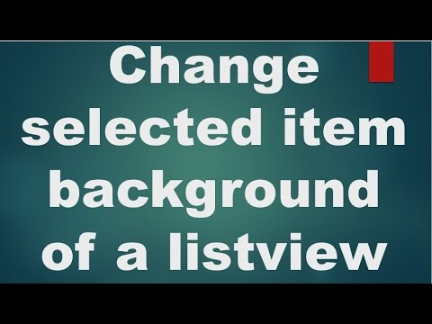 Android tutorial for beginners - 118 - Change selected item background of a listview.