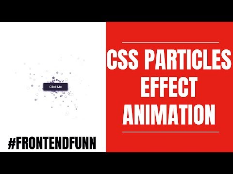 html css javascript - Particles CSS3 Animation Button Tutorial