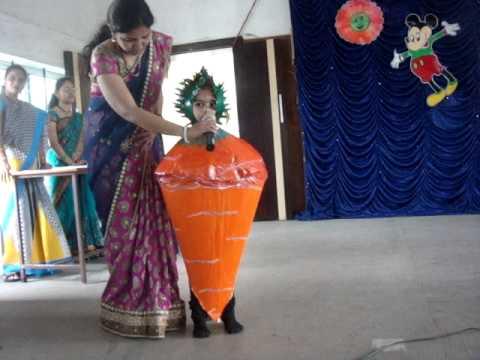fancy dress by deeksha as carrot