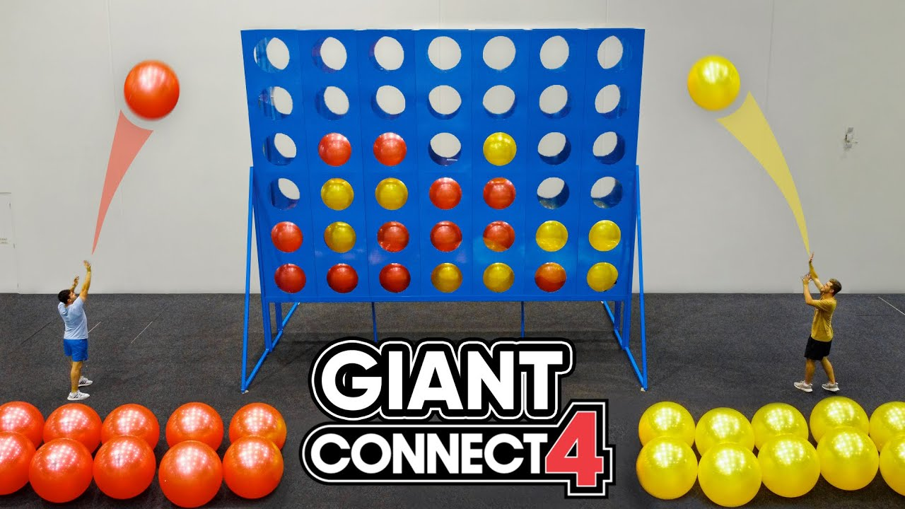 Playing GIANT CONNECT 4 With 50 PEOPLE!