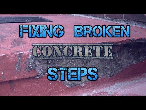 repair concrete steps on a patio