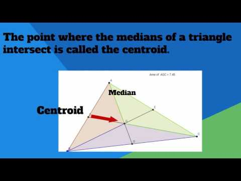 Centroid of a triangle definition