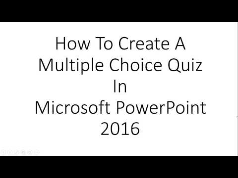 How To Make Multiple Choice Questions in PowerPoint 2016