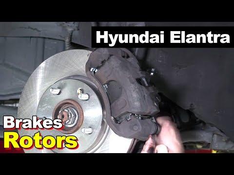 2010 Hyundai Elantra Touring Hatchback Front Brake Pads And Rotors