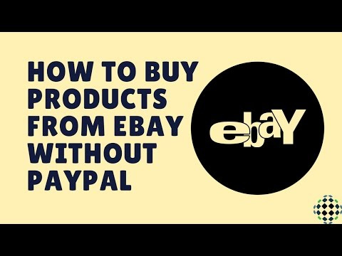 how to buy products from ebay in without paypal account