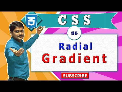 CSS Video Tutorial - 86 - CSS Radial Gradient Background