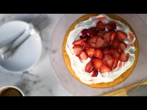 Strawberry Cream Cake- Everyday Food with Sarah Carey