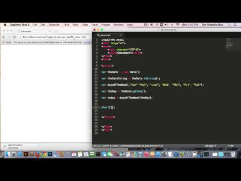Javascript Tutorial For Beginners #26  Getting the Current Date and Time   NICE!