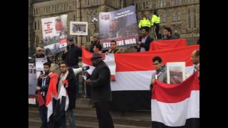 Download Demonstration in protest to Saudi Arabia aggression and crimes in Yemen Video