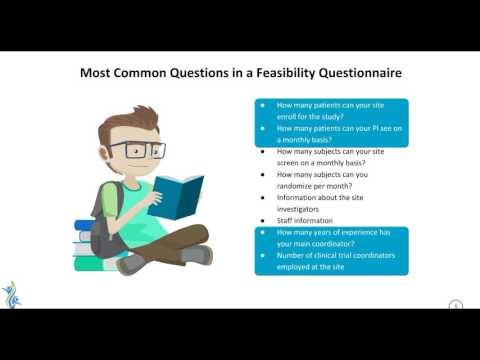Importance of Feasibility Questionnaires and Site Selection Visits in Clinical Research