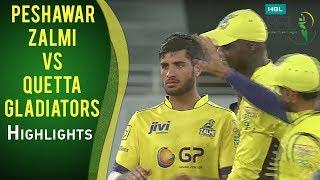 PSL 2017 Match 19: Peshawar Zalmi vs Quetta Gladiators Highlights