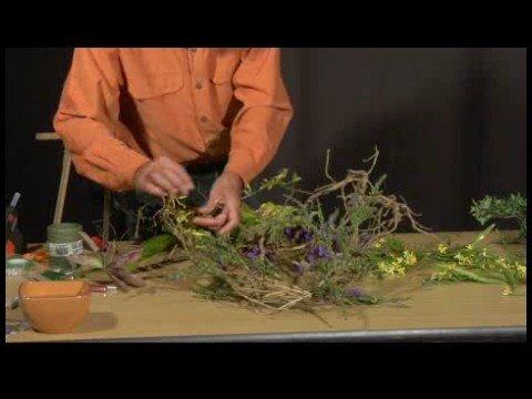 Making Silk Flower Wreaths : Wiring Flowers into Silk Flower Wreaths