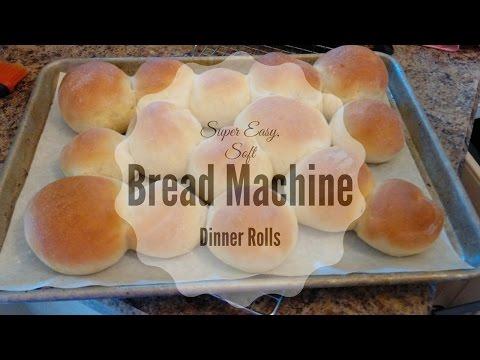 Super Easy, Soft Bread Machine Dinner Rolls!