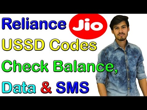 (All Codes) Reliance Jio USSD Codes To Check Balance,Data & SMS
