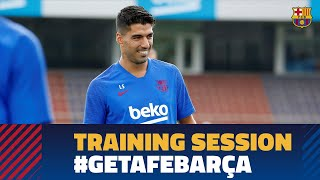 Last workout and trip to Madrid ahead of LaLiga match against Getafe