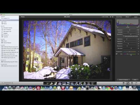 iPhoto 11 - How To Use iPhoto's Photo Edit Feature