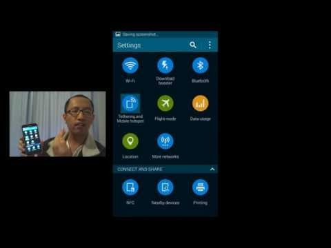 Samsung Galaxy S5 - How to take a screenshot of your phone and text it to a friend