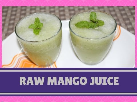 Raw Mango Juice Recipe   Green Mango Drink   Aam Panna, Kacha Aamer Shorbot, Summer Drinks, Beverage
