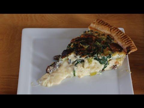 Spinach, Mushroom, & Gruyere Quiche Short