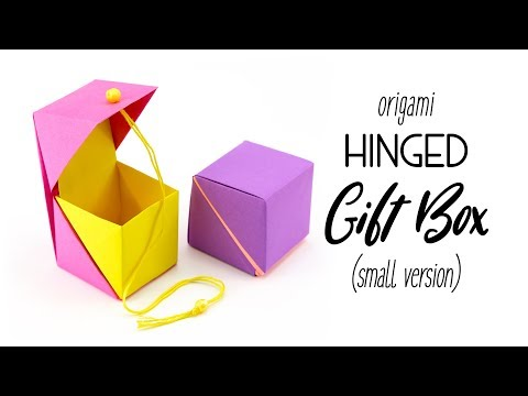 Origami Hinged Gift Box Tutorial - Small Cube Version - Paper Kawaii