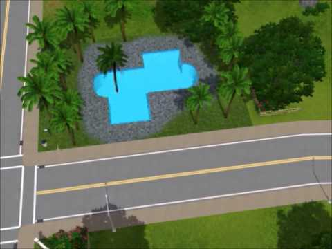 Sims 3 how to build a curved pool