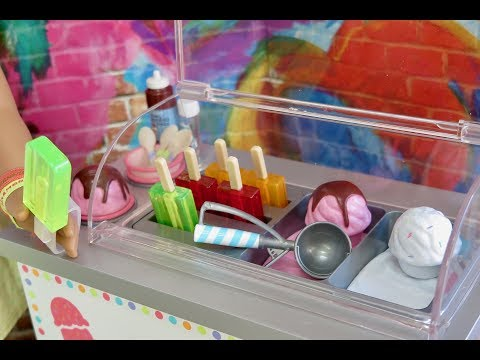 American Girl Doll Food Cart