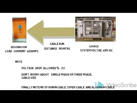voltage drop calculation new explanation with example