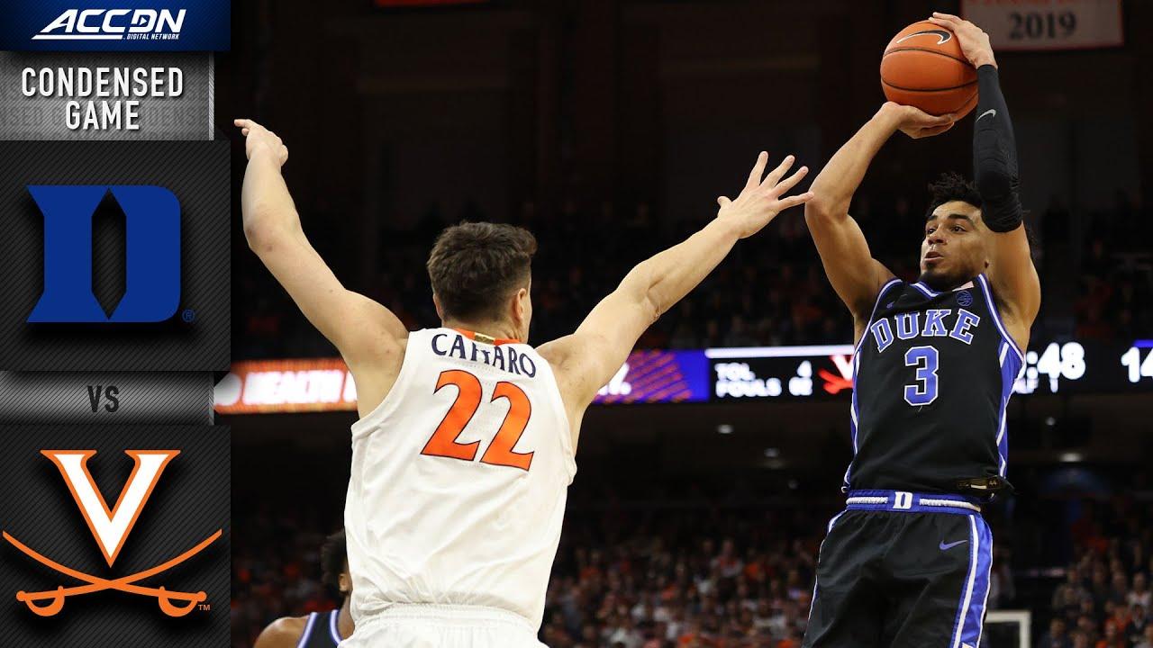 Duke vs. VirginiaCondensed Game | 2019-20 ACC Men's Basketball