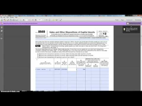 IRS FORM 8949