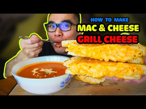 How to make MAC & CHEESE GRILL CHEESE & TOMATO SOUP