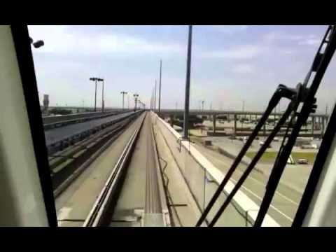 DFW Airport Tram train between terminals