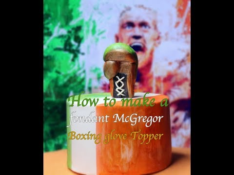 How to make a fondant Conor McGregor boxing glove cake topper.