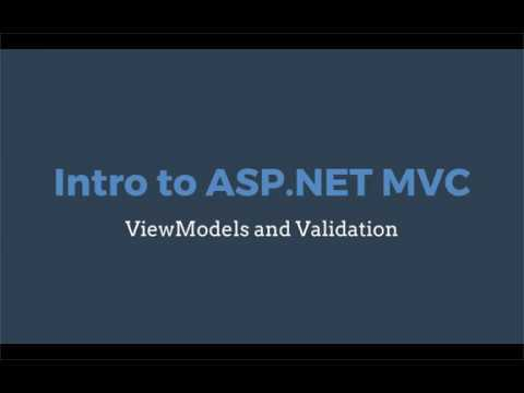 Intro to ASP.NET Core MVC: ViewModels and Validation